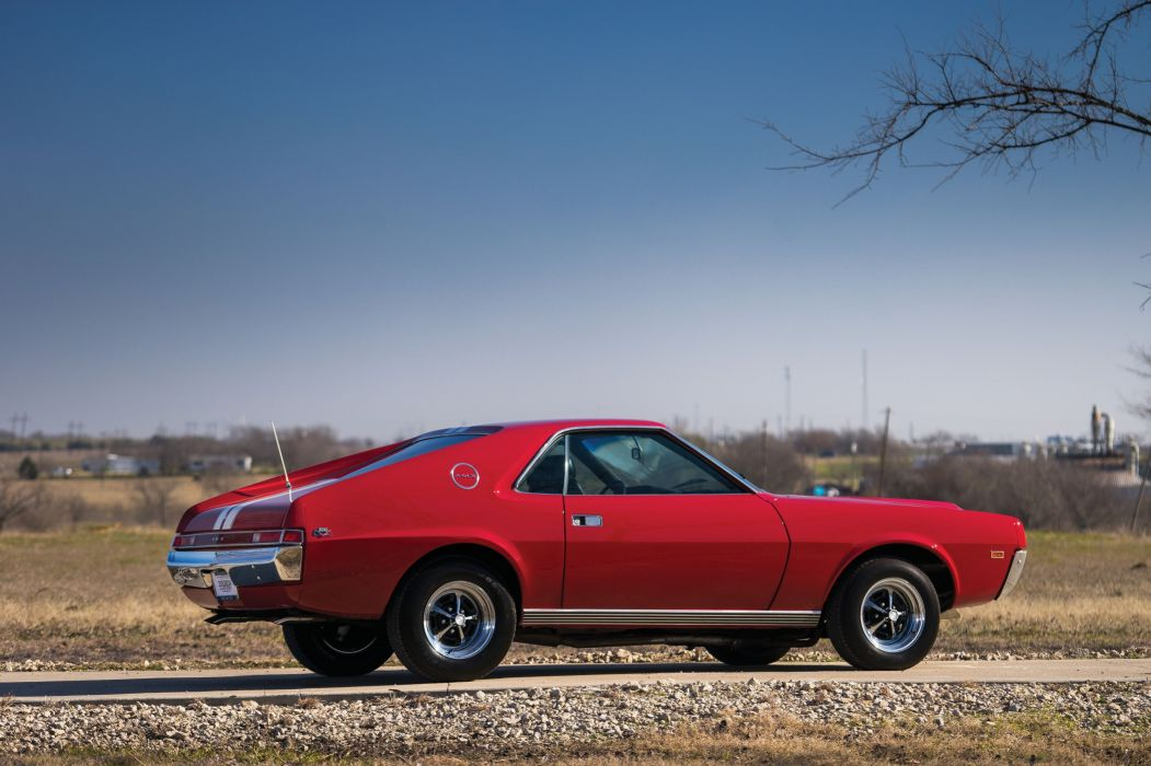 1968 AMC AMX cars coupe classic red wallpaper