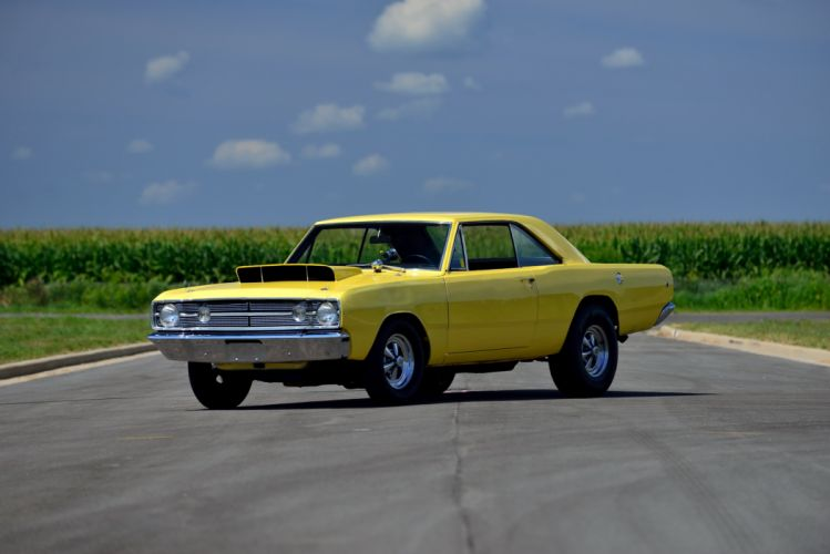 1968 Dodge Dart Hemi LO23 Super Stock cars coupe classic yellow wallpaper