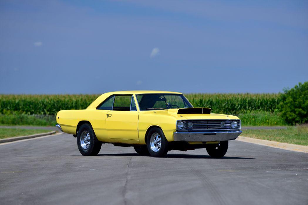 1968 Dodge Dart Hemi LO23 Super Stock cars coupe classic yellow wallpaper