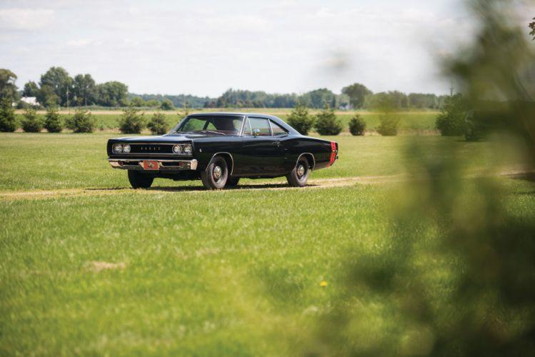 1968 Dodge Coronet Super Bee Hardtop Coupe cars coupe classic black wallpaper