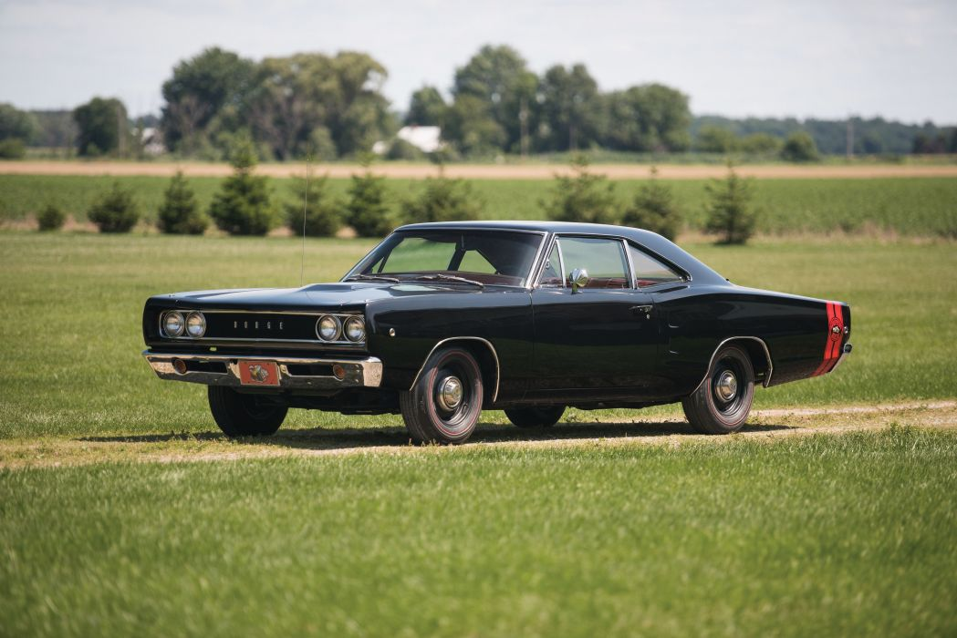 1968 Dodge Coronet Super Bee Hardtop Coupe cars coupe classic black wallpaper