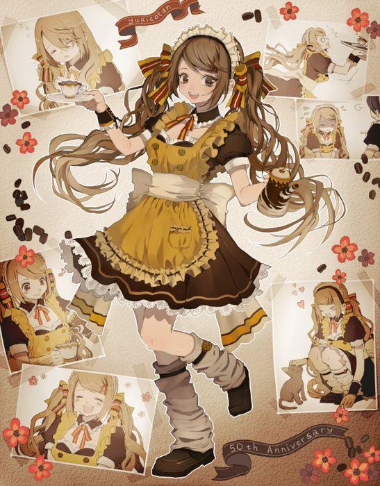 anime girl cute beautiful dress flower long hair picture wallpaper