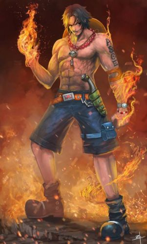anime series onepiece male fire ace character wallpaper