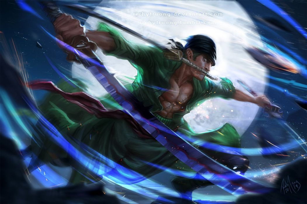 anime series onepiece swords character male wallpaper