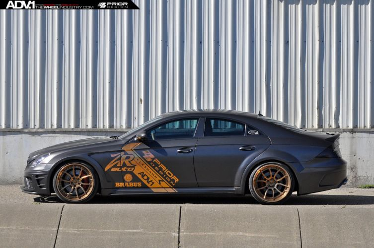 Mercedes CLS55 prior design matt black cars ADV1 wheels wallpaper