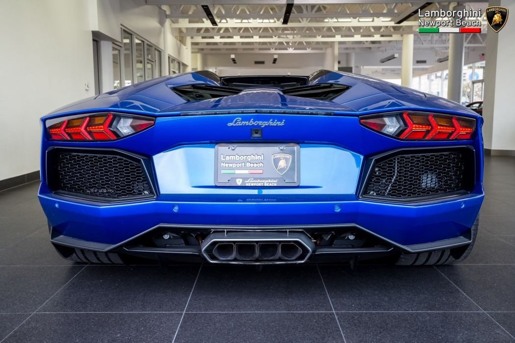 2014 Lamborghini Aventador LP 700-4 Roadster cars blue wallpaper