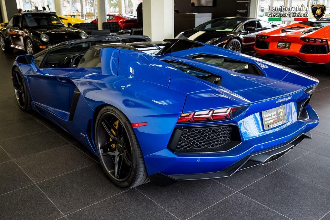 2014 Lamborghini Aventador LP 700-4 Roadster cars blue wallpaper