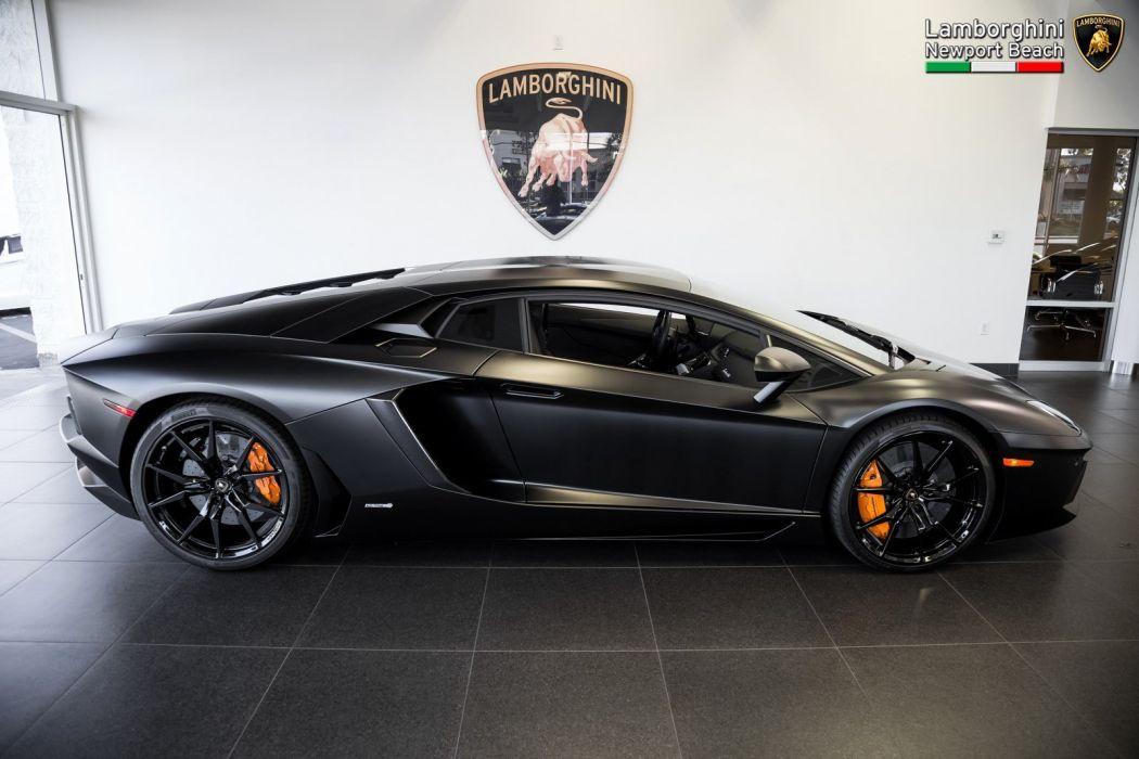 2014 Lamborghini Aventador LP 700-4 Coupe cars black wallpaper