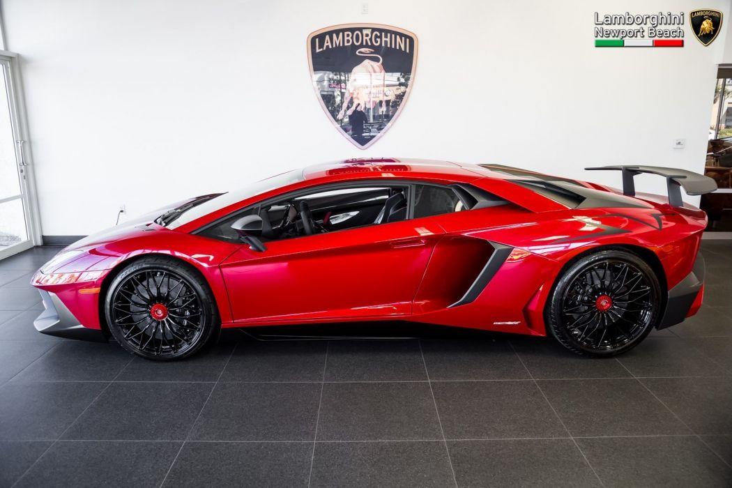2016 Lamborghini Aventador LP 750-4 SuperVeloce Coupe cars supercars red wallpaper