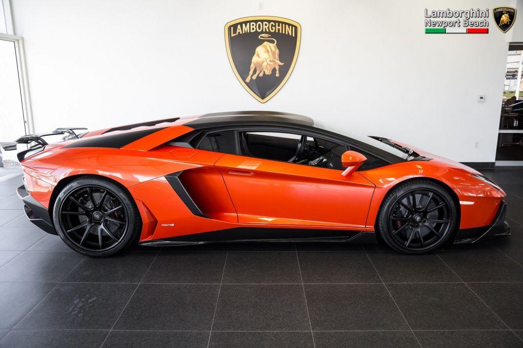 2012 Lamborghini Aventador LP 700-4 Coupe cars supercars orange wallpaper