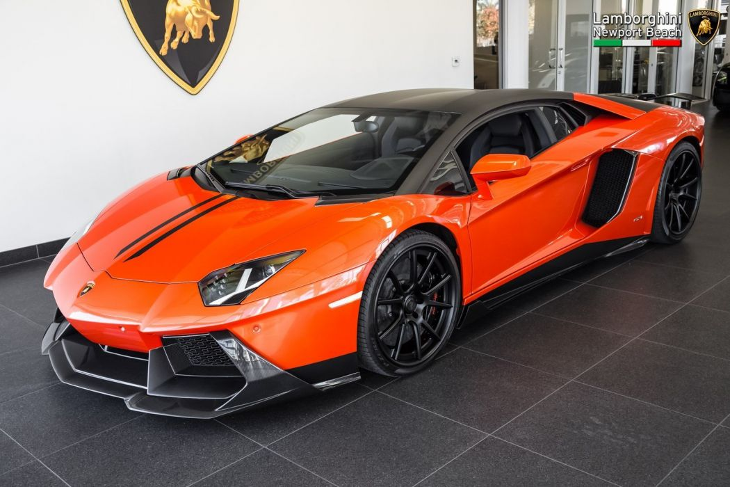 2012 Lamborghini Aventador LP 700-4 Coupe cars supercars orange wallpaper