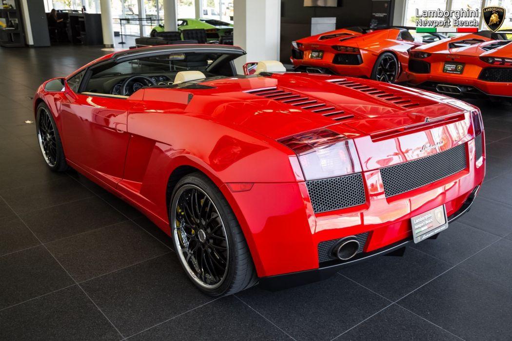 2008 Lamborghini Gallardo Spyder cars red wallpaper