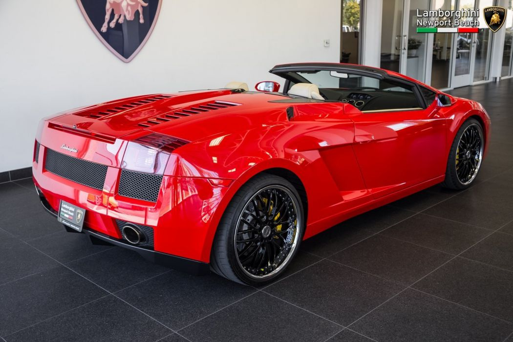 2008 Lamborghini Gallardo Spyder cars red wallpaper