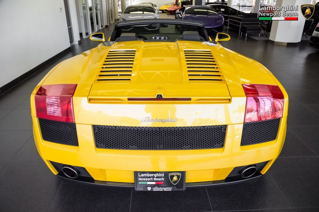 2008 Lamborghini Gallardo Spyder cars yellow wallpaper