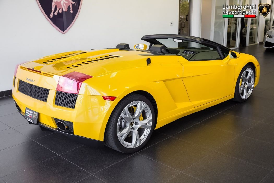 2008 Lamborghini Gallardo Spyder cars yellow wallpaper