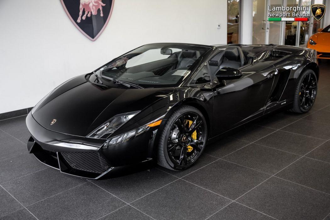 2011 Lamborghini Gallardo Spyder LP 560-4 cars black wallpaper