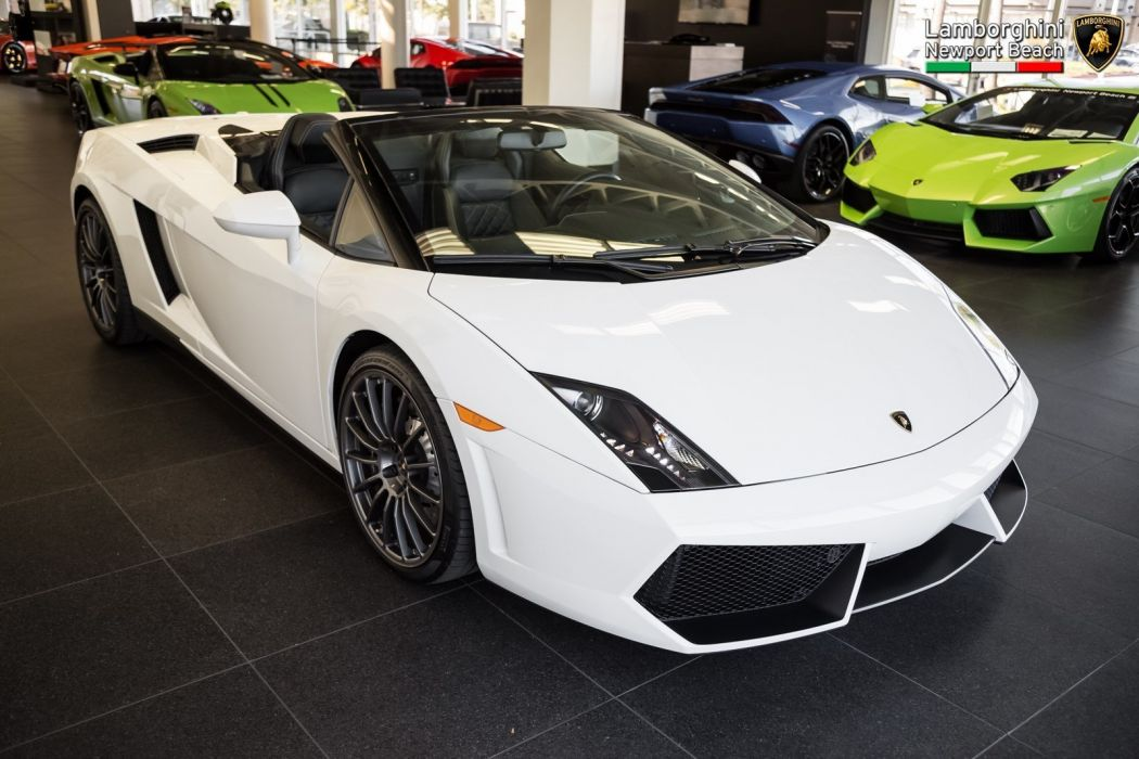 2012 Lamborghini Gallardo Spyder LP 550-2 cars white wallpaper