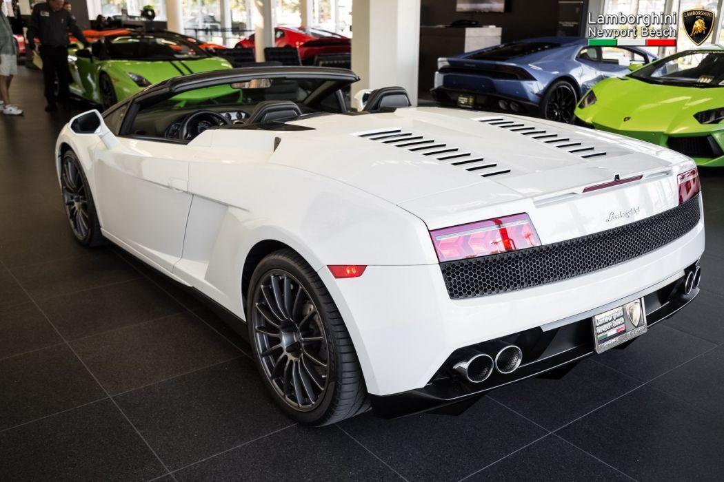 2012 Lamborghini Gallardo Spyder LP 550-2 cars white wallpaper