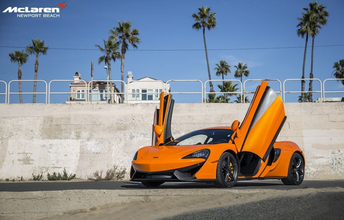 2016 McLaren 570S Coupe cars orange wallpaper