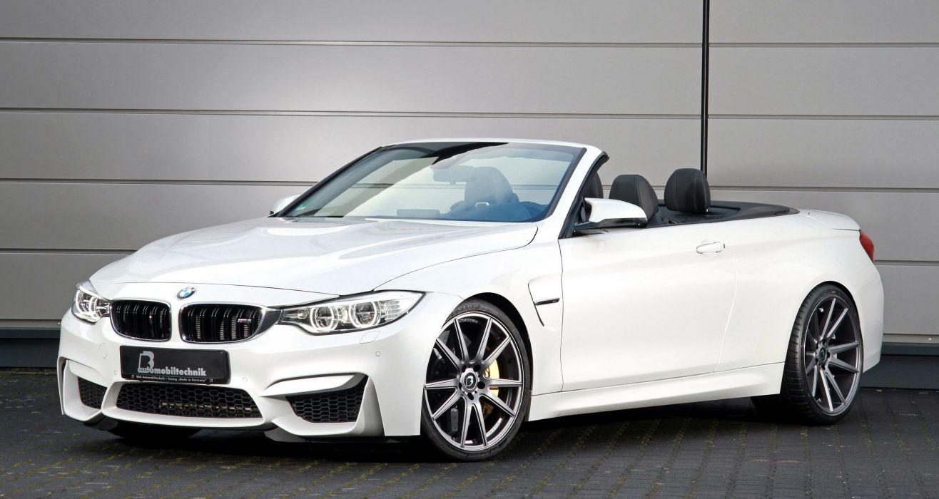 BMW M4 Convertible cars white wallpaper