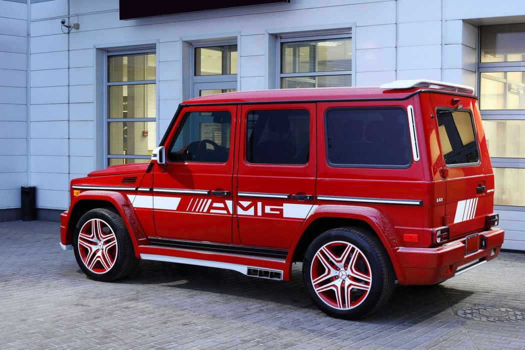 mercedes G63 AMG Hamann Body Kit cars red modified suv wallpaper