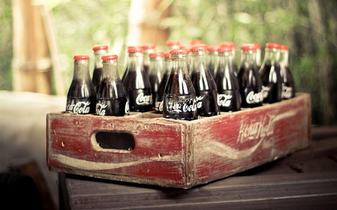vieja caja botellas coca colas wallpaper