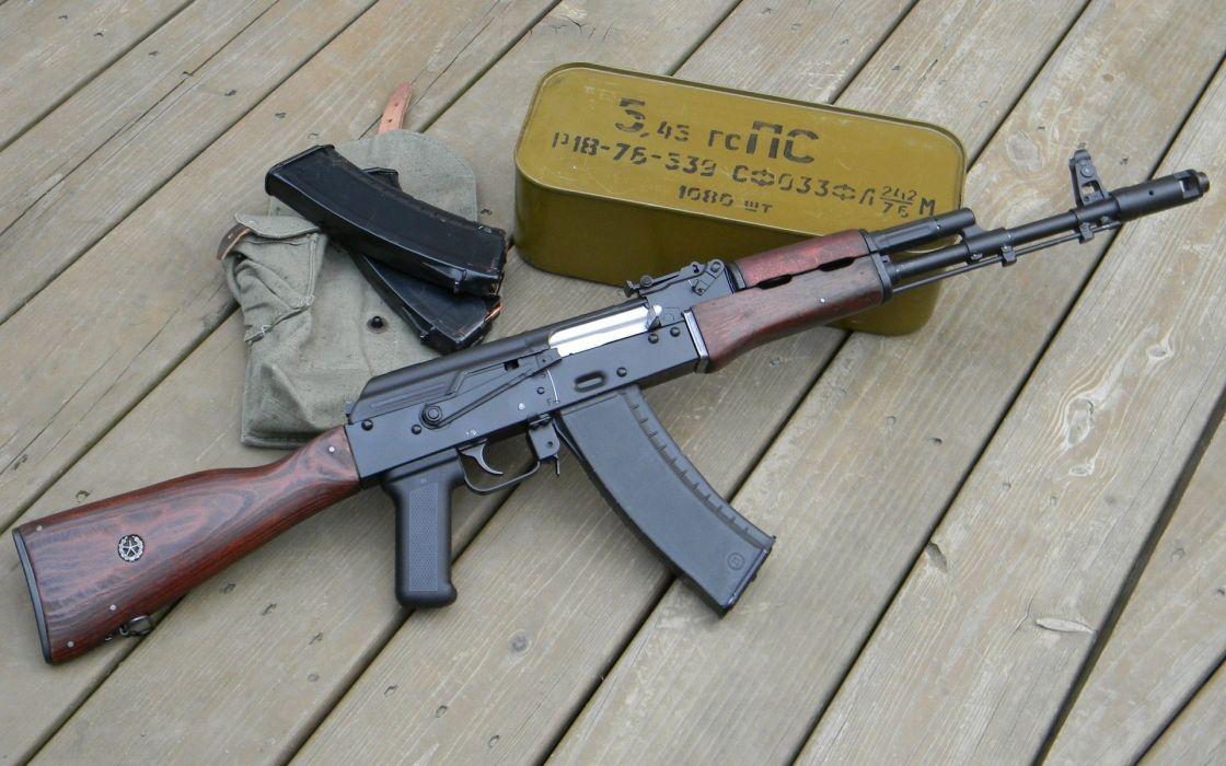 kalashnikov fusil asalto rusia municion wallpaper