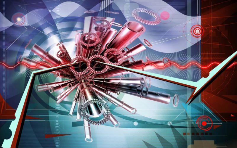 3d abstracto tubos colores wallpaper