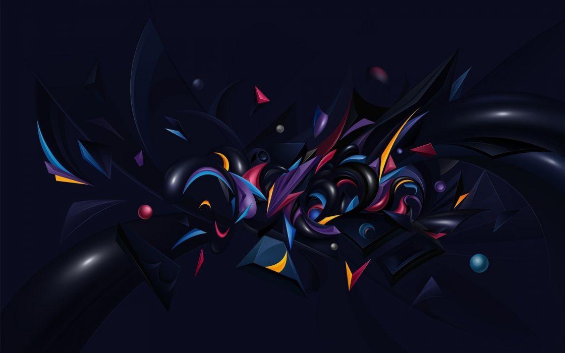 abstracto dark colores wallpaper