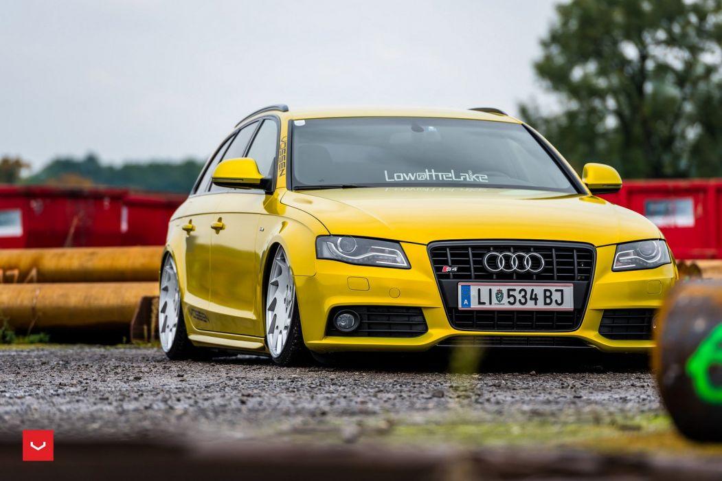 Audi s4 avant yellow Vossen Wheels cars wallpaper