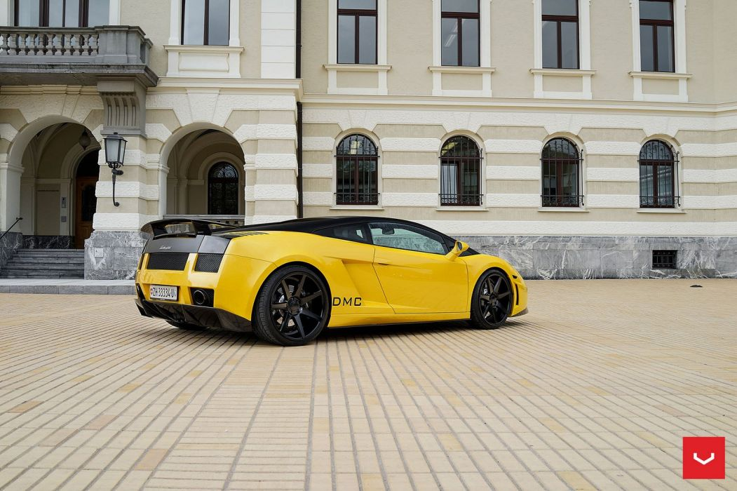 Lamborghini Gallardo yellow Vossen Wheels cars wallpaper