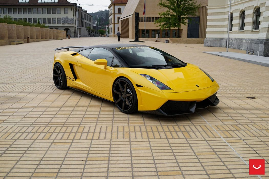 Lamborghini Gallardo yellow Vossen Wheels cars wallpaper