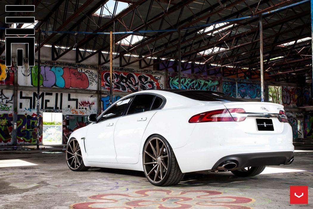 Jaguar XF white Vossen Wheels cars wallpaper