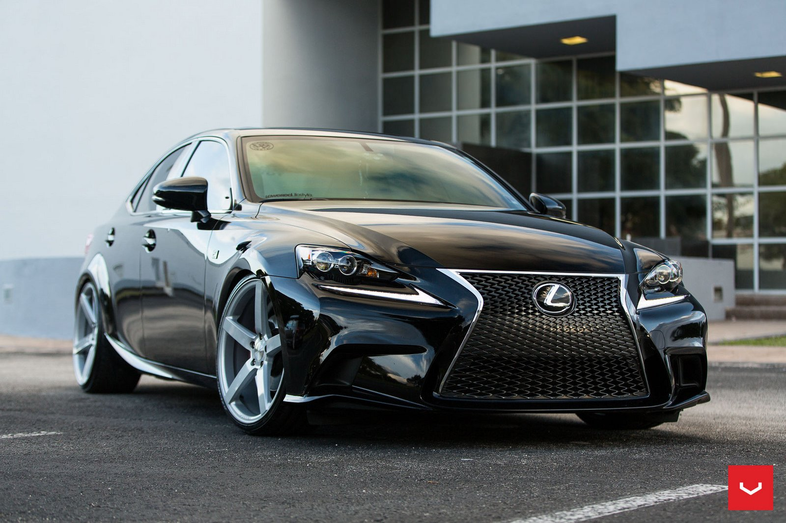 lexus is 250 f sport black vossen wheels cars wallpaper 1600x1066 886056 wallpaperup. Black Bedroom Furniture Sets. Home Design Ideas