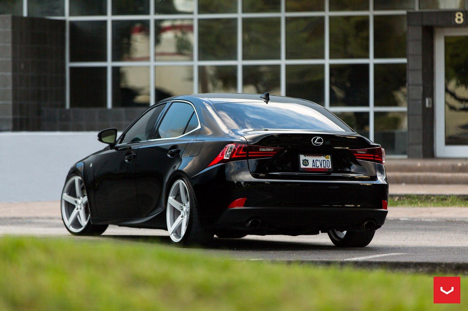 Lexus IS 250 FSport black Vossen Wheels cars wallpaper
