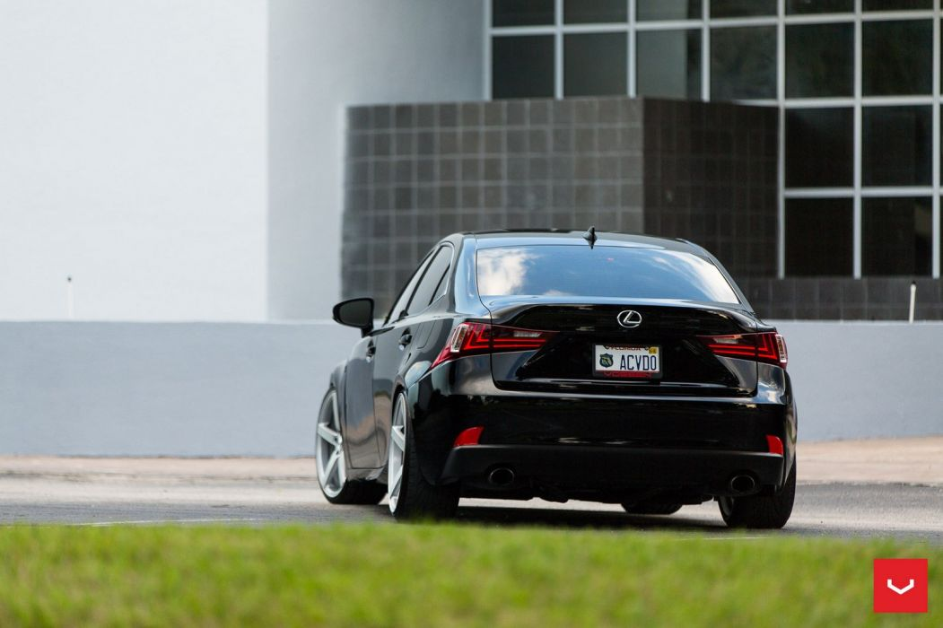Lexus IS 250 F-Sport black Vossen Wheels cars wallpaper
