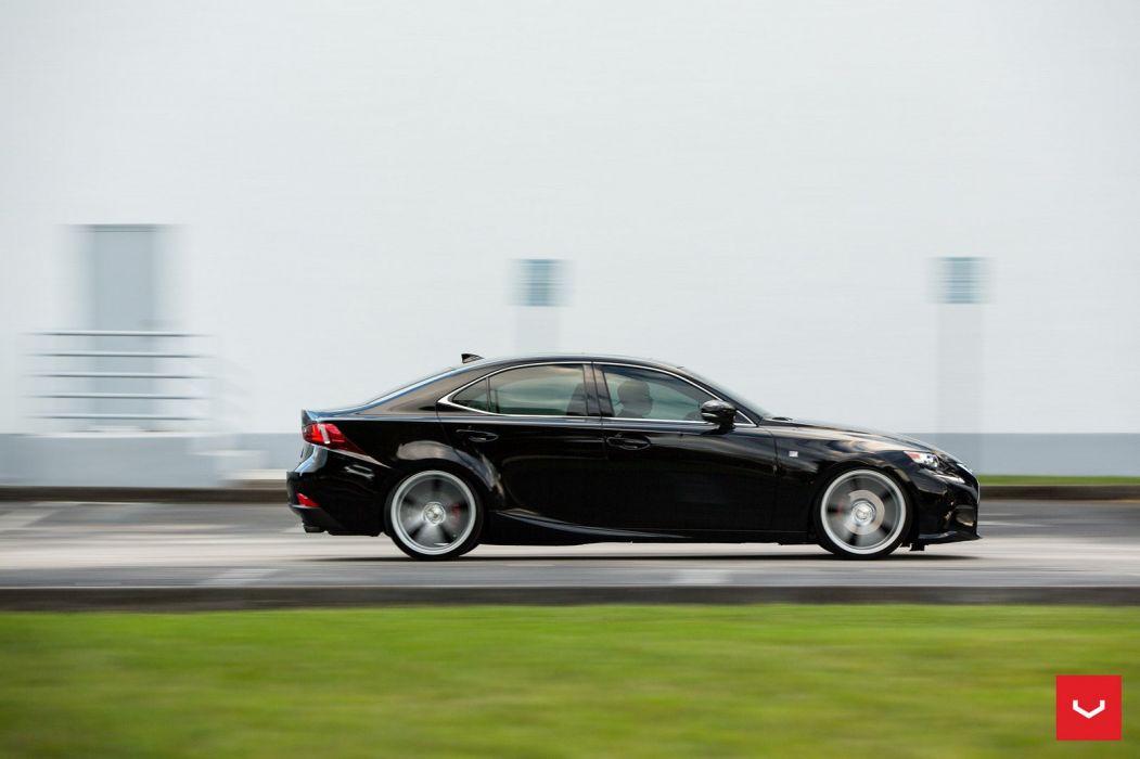 Lexus IS 250 F-Sport black Vossen Wheels cars wallpaper