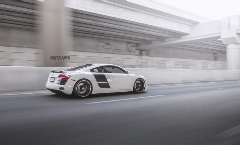 Strasse Wheels Audi R8 cars coupe white wallpaper