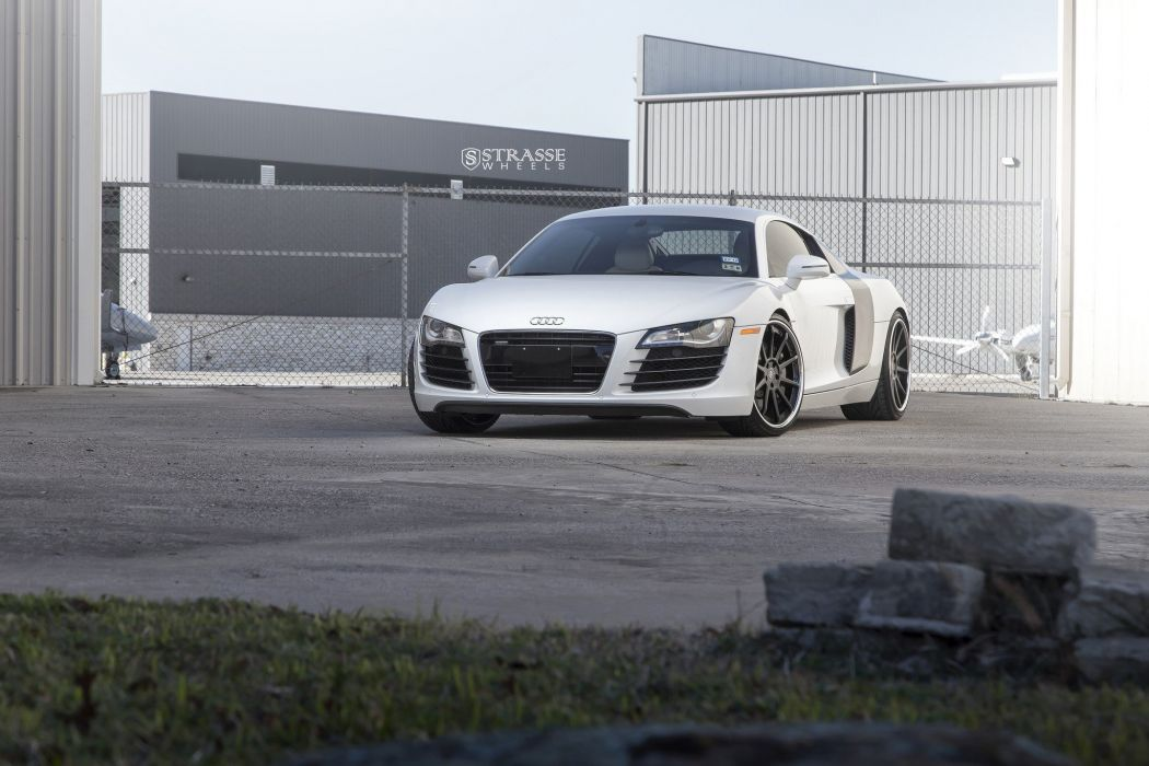 Strasse Wheels Audi R8 cars coupe white wallpaper