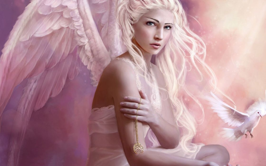 abstracto angel fantasia alas wallpaper