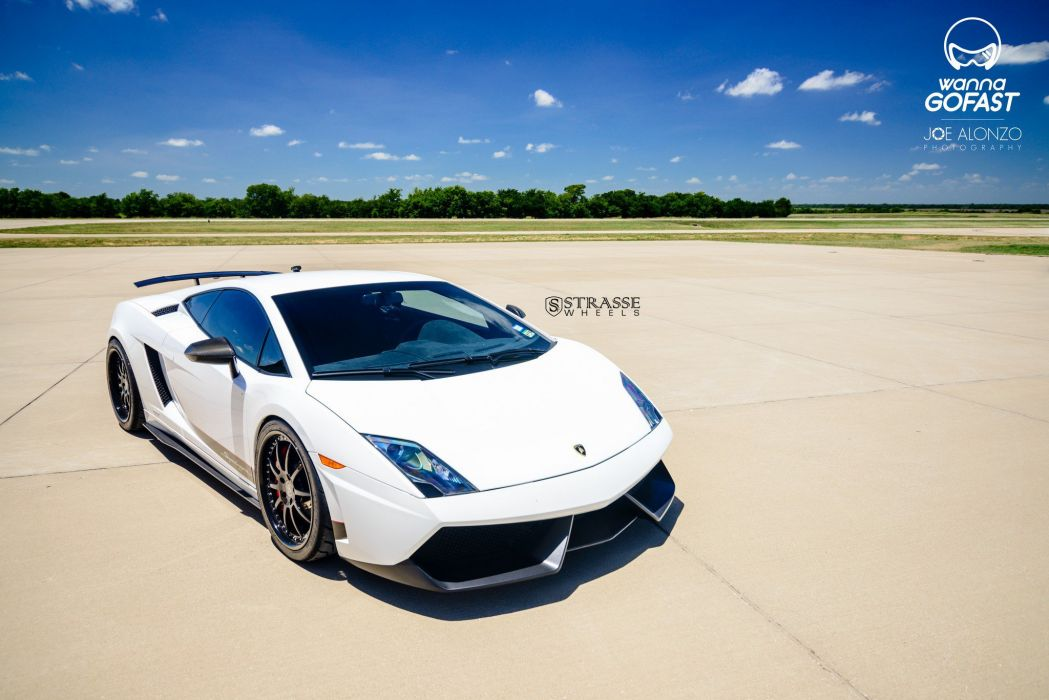 Strasse Whels Lamborghini Gallardo Superleggera cars coupe white wallpaper