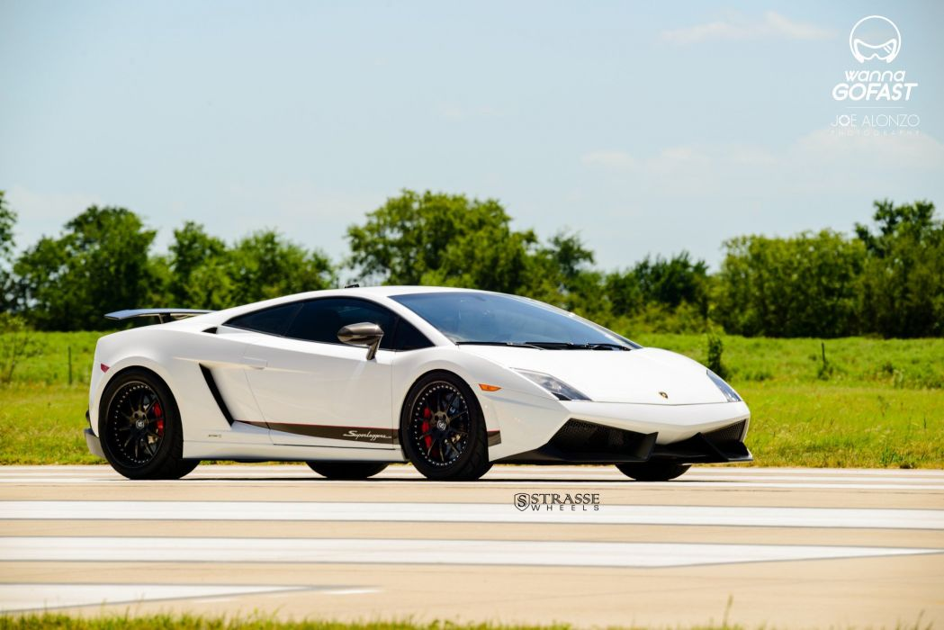 Strasse Whels Lamborghini Gallardo Superleggera cars coupe white wallpaper