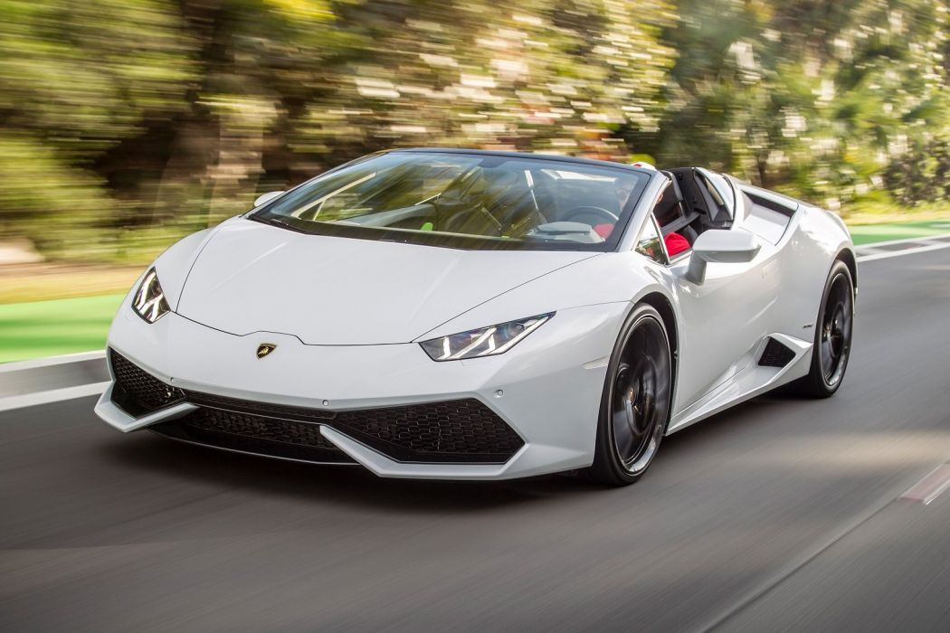 Lamborghini Huracan LP 610-4 Spyder cars white wallpaper