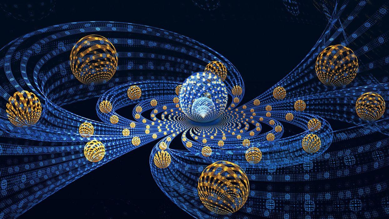 abstracto fractal esferas colores wallpaper