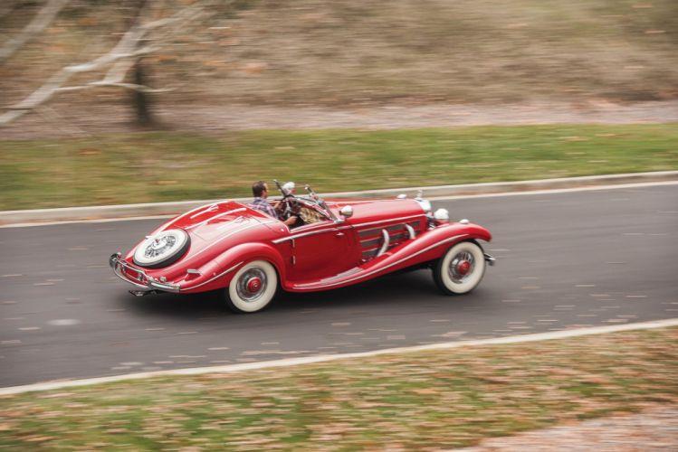 1937 Mercedes 540K red convertible classic cars wallpaper