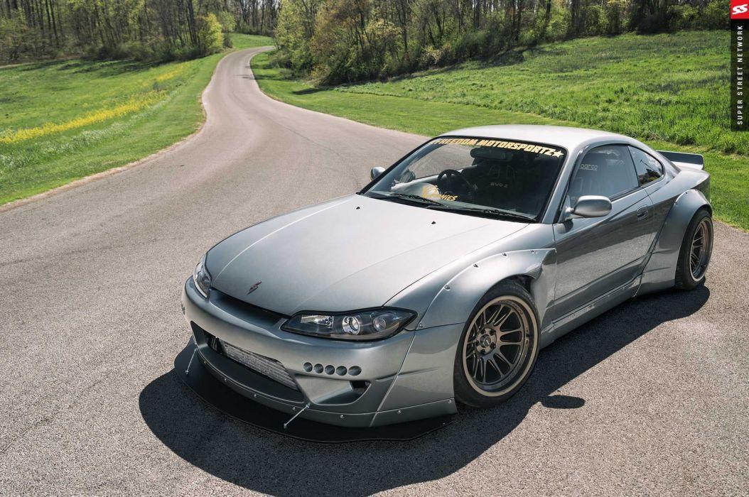 Rocket Bunny Nissan Silvia S15 cars coupe bodykit modified wallpaper