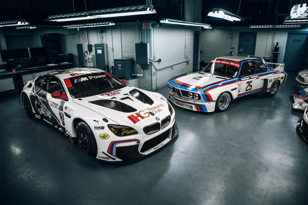 BMW M6 GTLM cars coupe racecars modified wallpaper