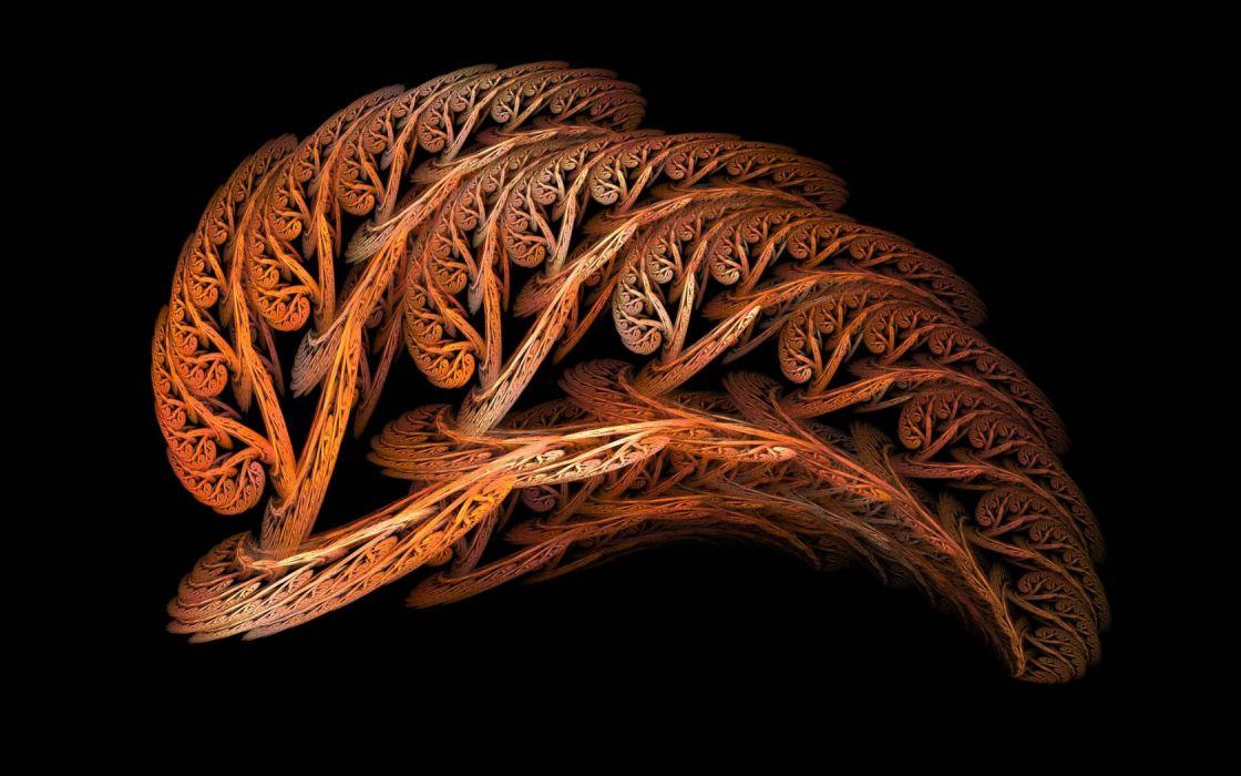 abstracto fractal pluma colorido wallpaper