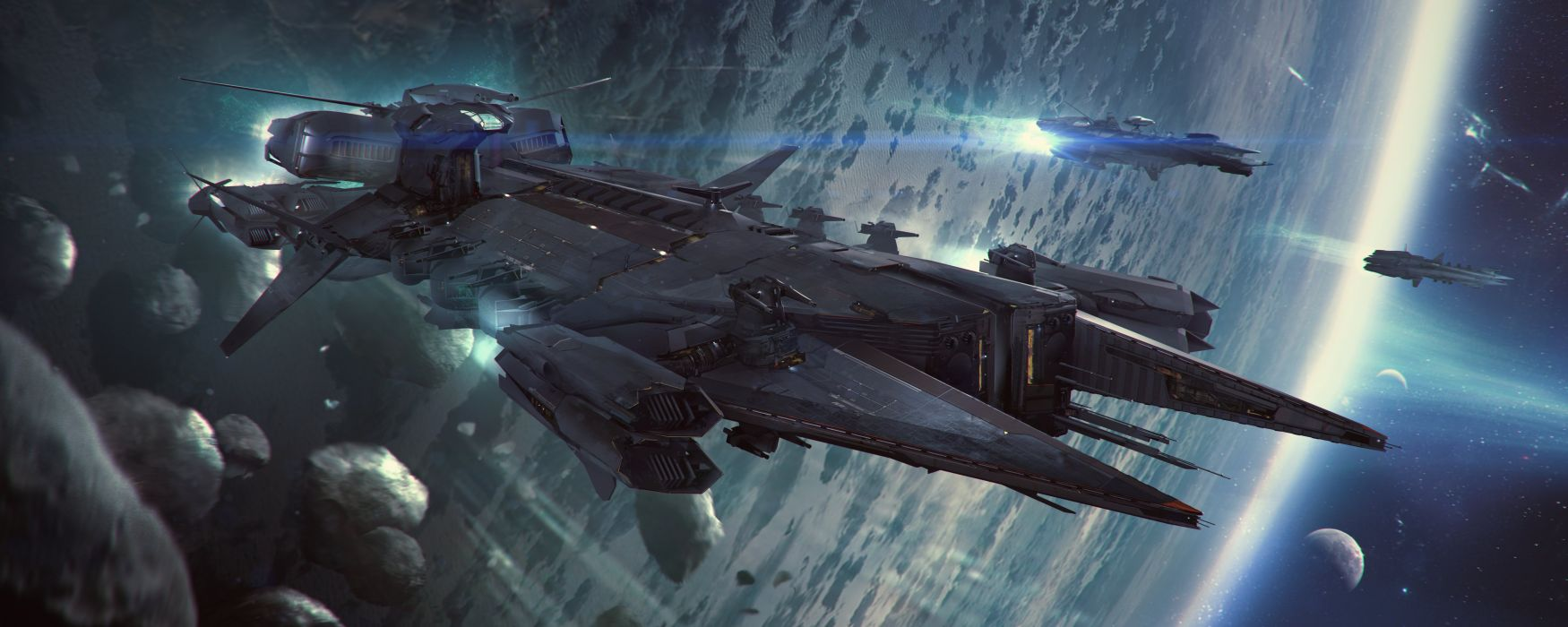 sci-fi science space art artwork fantasy artistic original spaceship wallpaper