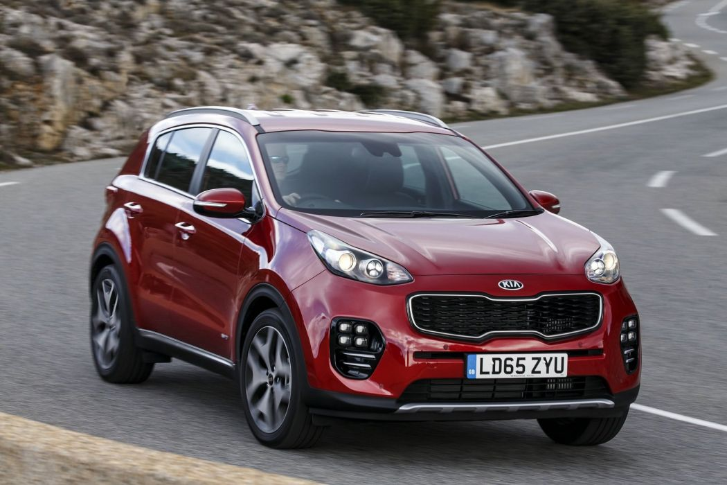 2016 cars uk-version kia sportage suv gt-line red wallpaper